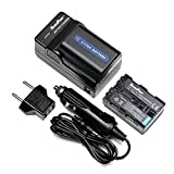 MaximalPower FC500 SON F550+DB SON QM51x2 Sony NP-FM50 NP-FM55H QM51 Camera Battery, Charger Combo (Black)