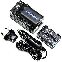 MaximalPower FC500 SON F550+DB SON QM51x2 Sony NP-FM50 NP-FM55H QM51 Camera Battery, Charger Combo (Black)