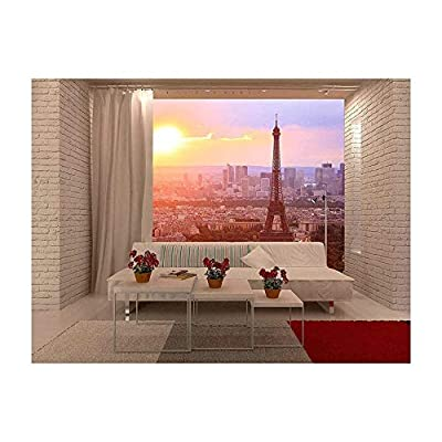 Beautiful Style, Top Quality Design, Eiffel Tower Paris at Sunset Beautiful Colors