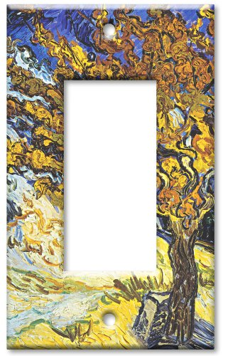 Art Plates - Van Gogh: Mulberry Tree Switch Plate - Single R