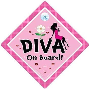 Autoaufkleber Mit Der Aufschrift Diva On Board Und Frauenmotiv