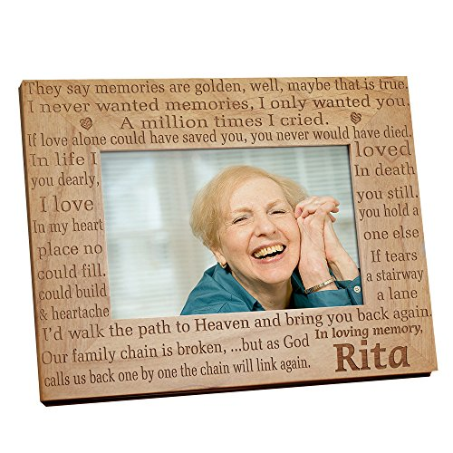 In Loving Memory Memorial Wood Picture Frame, Holds a 3.5