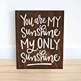Cheap You Are My Sunshine Sign Wood Baby Shower Gift Nursery Decor Wall Art 10×12