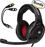 Sennheiser GAME ONE PC Gaming Headset 506080 (Black) & Sennheiser PCV 05 Combo Audio Adapter - Bundle