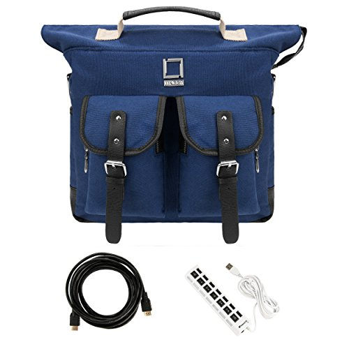 Lencca Unisex Canvas Knapsack Study Bag Large Duffle Carry-on Tablet Case For 10.1