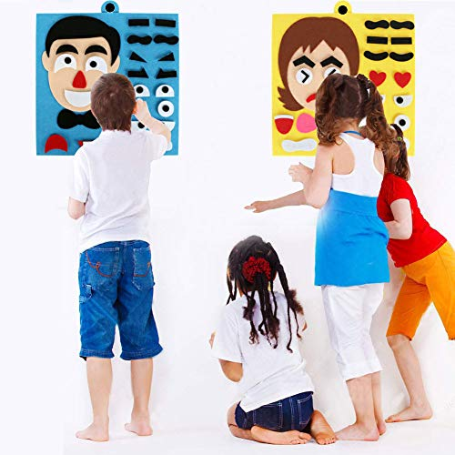 MUXIN 2 Pack Super Expression Party Games for Kids - Birthday Party Favors Indoor & Outdoor DIY Educational Toys for Boys Girls 12 x 12 Inch (Birthday Party Games For 4 Year Olds Indoors)
