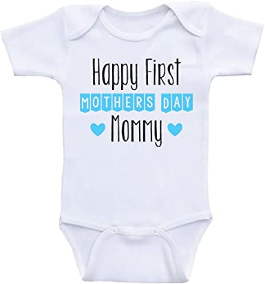 Kids Handwriting Happy 1st Mothers Day Momma Baby Cotton Sleeper Gown
