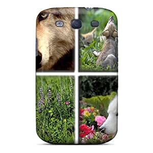 Galaxy S3 Hard Back With Bumper Silicone Gel Tpu Case Cover Wolf Gallery