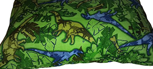 "Dinosaurs PILLOW with PILLOWCASE, Size 13""x 18"", throw pillow, neck or travel , bed , sofa, dorm , chair decor. Kids, Hypoallergenic , washable. Ready to use. Save$$"