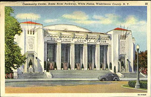 Community Center, Bronx River Parkway, White Plains Westchester County, New York Original Vintage - Plains The White Westchester