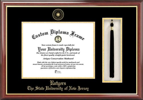 NCAA Rutgers Scarlet Knights Tassel Box and Diploma Frame by Campus Images