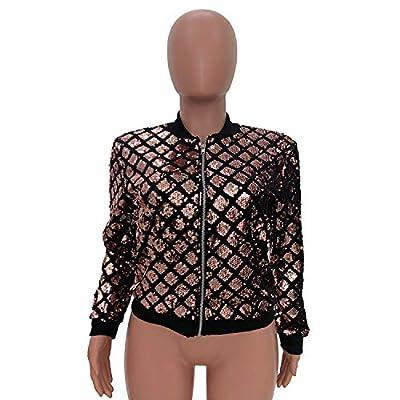 Speedle Women Party Clubwear Sexy Off The Shoulder Sequin Jacket Coat Outwear at Women's Coats Shop