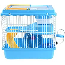 "ZuHucpts Hamster Travel Cage, Portable Carrier for Small Animals (11"" Lx8 Wx11 H, Bule)"