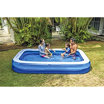 Giant Inflatable Kiddie Pool   Family And Kids Inflatable Rectangular Pool    10 Feet Long (