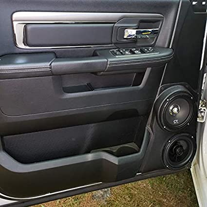 Amazon Com Custom Speaker Pods Dual 6 5 Front Door Compatible With 2009 2018 Dodge Ram Stereo Installation Upgrade Car Electronics