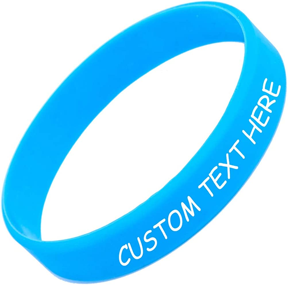 Causes Personalized Customizable Rubber Bracelet Support Customized for Motivation Gifts Width 1//2 inch RIYIN Custom Silicone Wristband Events Fundraisers