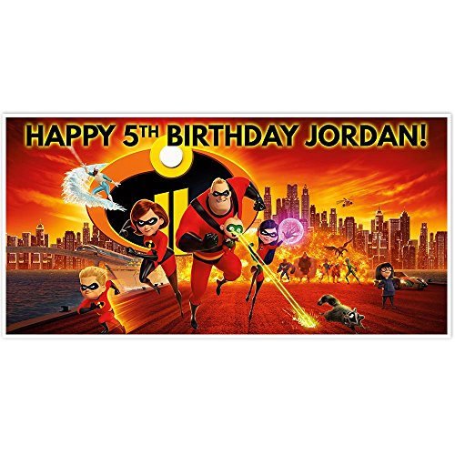 - Incredibles Birthday Banner Party Decoration Backdrop