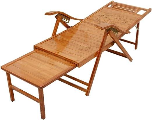Tumbona de jardín, Tumbona Plegable, Tumbona de Madera, Tumbona, Muebles de jardín Macizo, Ajustable a 5 velocidades: Amazon.es: Hogar