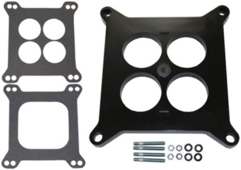 "2/"" Open Square Aluminum Carburetor Spacer Fits Edelbrock Holley SBC BBC Chevy V8"