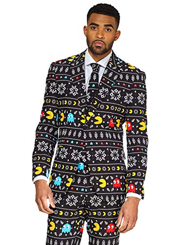 OppoSuits Christmas Suits for Men in Different Prints – Ugly Xmas Sweater Costumes Include Jacket Pants & -