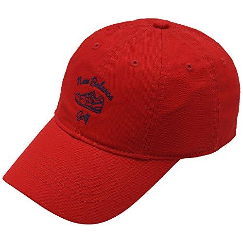 ニューバランス New Balance 帽子 METRO ツイルミニシューズモチーフ8パネルキャップ 012-7287516 レディス チャイニーズレッド 100 フリー