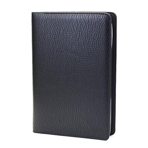 Chris-Wang 1Pk PU Leather Zipper Binder Business Zippered 6-ring Portfolio Planner -Filler Paper, Pagefinder Ruler, Calculator, Clear PVC Card Bag Included (A5, ()