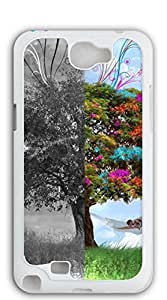 TUTU158600 Custom Cover Case with Hard Shell Protection case for samsung galaxy note 2 for girls - Floral fabric