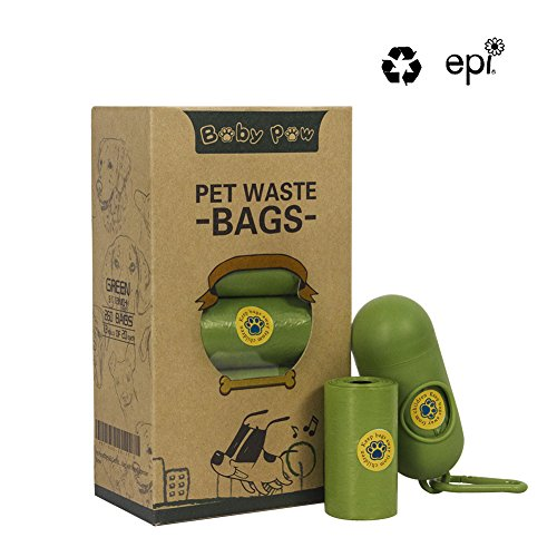 BABY PAW Pet Poop Bags 260 Counts 13 Rolls Dog Waste Bags Doggie Bags with Free Dispenser