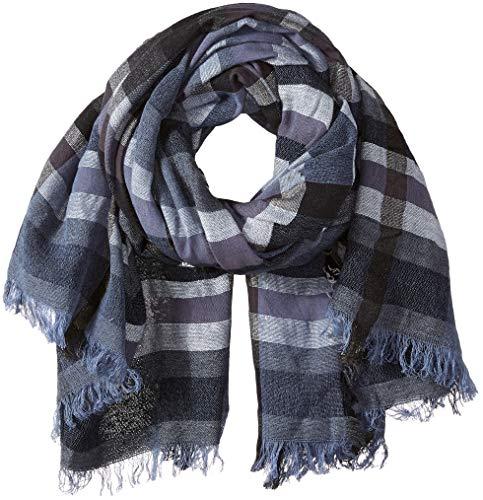 - Echo Women's Sheer Stripe Wrap Scarf, maritime navy, ONE SIZE