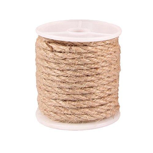 Advantez Natural Jute Burlap Twine String Hessian Rope Cord Craft (Jute Rope-4MM) ()