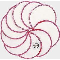 Imsevimse Wattenschijfjes Wasbaar Wit/Roze, 10 Stuk