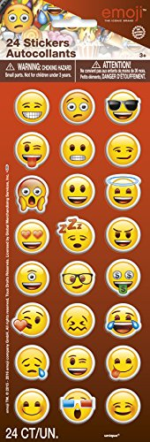 Emoji Party Supplies Faces Stickers