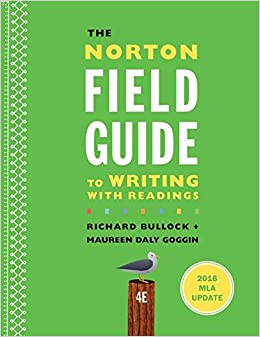 Book The Norton Field Guide to Writing with 2016 MLA Update: with Readings (Fourth Edition)
