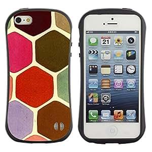 Suave TPU GEL Carcasa Funda Silicona Blando Estuche Caso de protección (para) Apple Iphone 5 / 5S / CECELL Phone case / / Turtle Shell Pattern Pink Scales Brown /