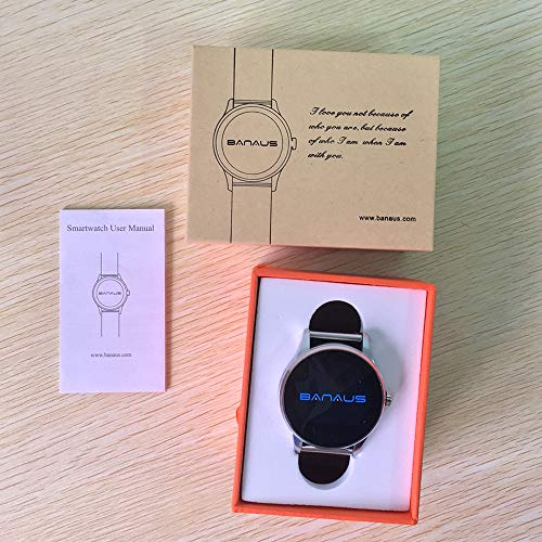BANAUS B4 Smart Watch Smartwtach with Bluetooth 4 0 Support Heart Rate  Monitor for iPhone 6/6S/7/7S/8/8S/X/XR/XS/XS Max/Samsung
