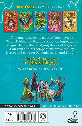 Beast Quest: Komodo the Lizard King: Series 6 Book 1