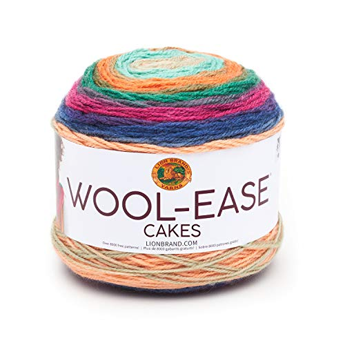 Lion Brand Yarn Wool-Ease Cakes Yarn, One skein, Hecate