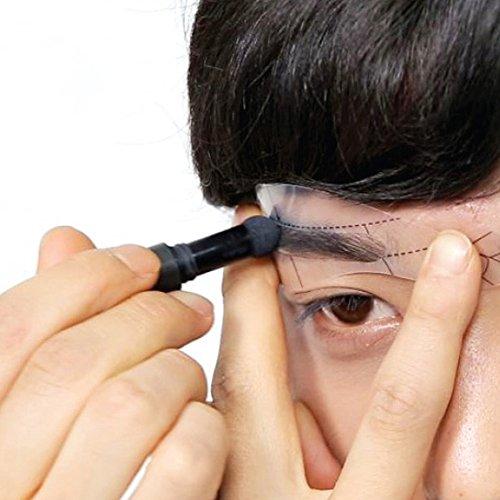 BLACK MONSTER Blackbrow Kit – Eyebrow Black, Razor, 3 Types of Shaping Stencils Set