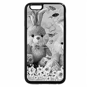 iPhone 6S Case, iPhone 6 Case (Black & White) - Stuffed Bunnies