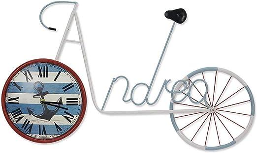 NewbieBoom Bicicleta Reloj de Pared Adorno Arte de Pared de Metal ...