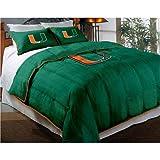 NCAA Miami Hurricanes Twin/Full Size Comforter with Sham Set