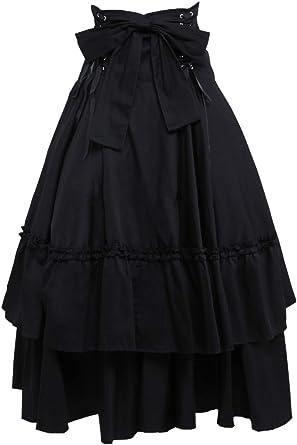 Antaina Negra Volantes Bowknot Retro Victoriana Gotica Punk ...
