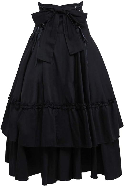 Antaina Negra Volantes Bowknot Retro Victoriana Gotica Punk Lolita ...