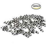 HAWORTHS 100pcs 7MM ANTIQUE Silver Round Dome Metal Studs Spots Nailheads Fastners