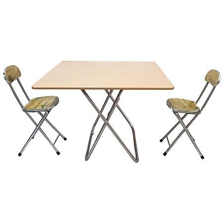 DIECH® - Juego de Mesa Plegable y 2 sillas: Amazon.es: Hogar