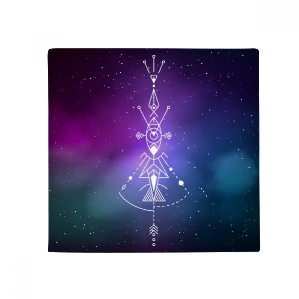 DIYthinker Universe Symbol Totem Pattern Alien Anti-Slip Floor Pet Mat Square Home Kitchen Door 80Cm Gift