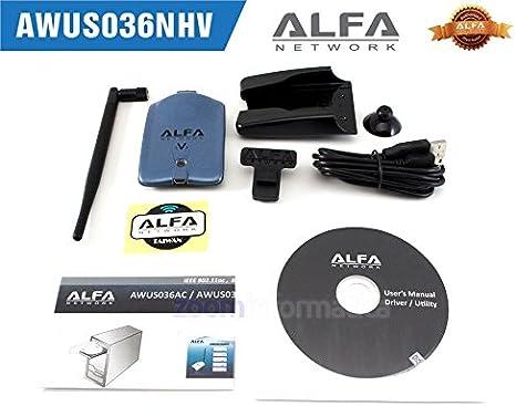 USB WiFi Alfa Network AWUS036NHV REALTEK 8188EUS ADAPTADOR ANTENA WIRELESS