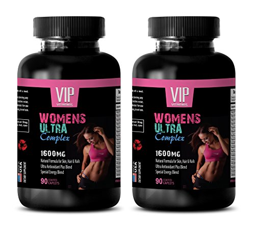 menopause supplements for women - WOMEN'S ULTRA COMPLEX 1600 MG - multivitamin for women with iron - 2 Bottles 180 Caplets by VIP VITAMINS (Image #7)
