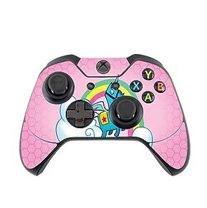 Rainbow Unicorn Pink Background Design Xbox One Controller Vinyl Decal Sticker Skin by egeek amz