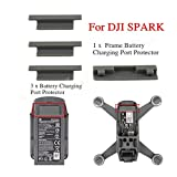 4pcs Charging Port Crotector Cover Plug for DJI SPARK Drone and Battery , Silicon Anti Dust,Waterproof,Anti-oxidation,Anti short circuit,Gray (3PCs for Battery,1PC for Drone Boady)